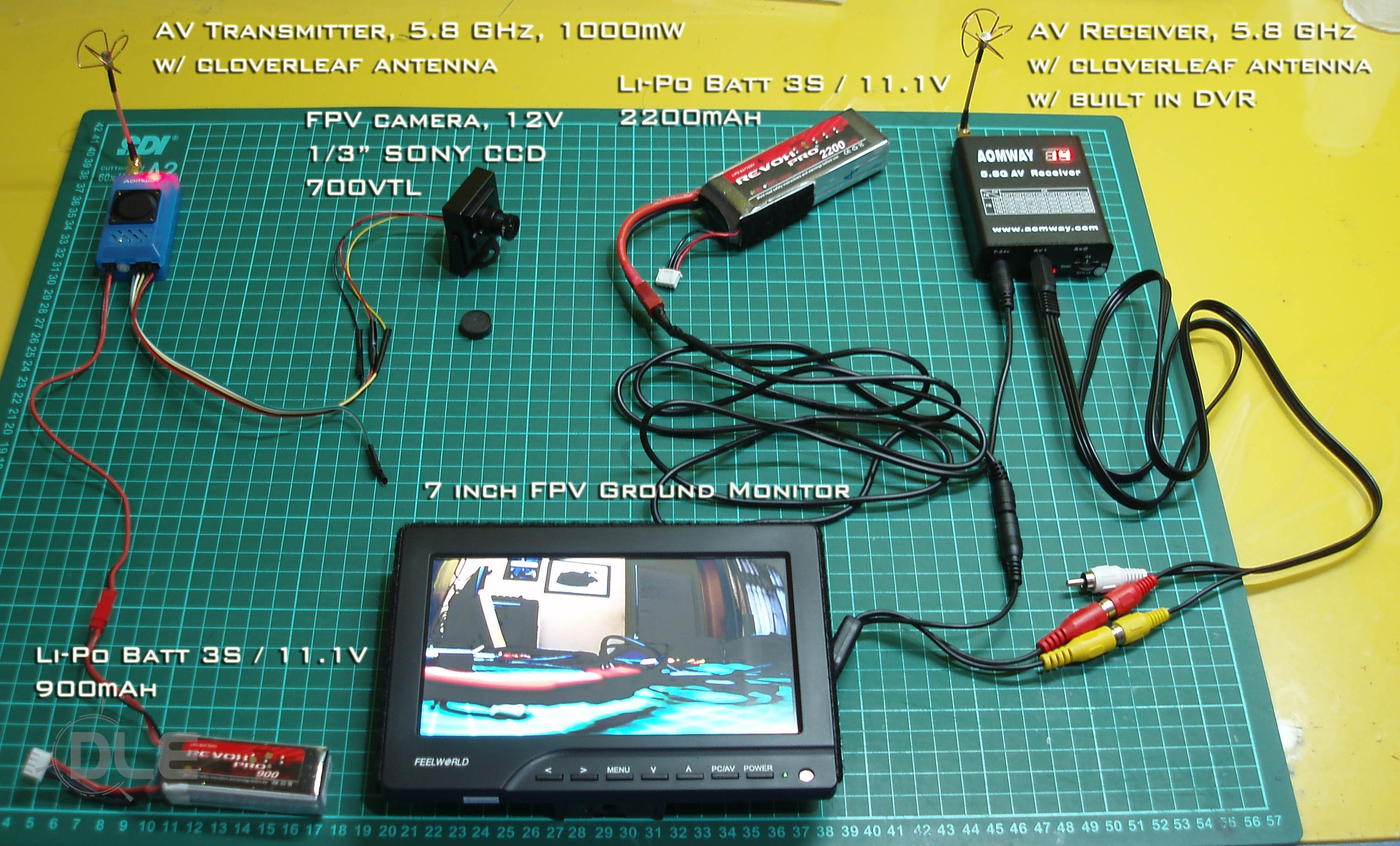 How To Get Camera Output On A Display Fpv Downlink Fpvcrazy Fat Shark Wire Diagram